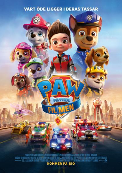 Den 26/9 kl 14.00 visar vi barnfilmen Paw patrol: filmen