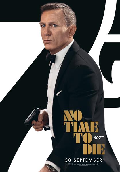 Den 1/10 och 3/10 visar vi Bondfilmen No time to die på Bio Park